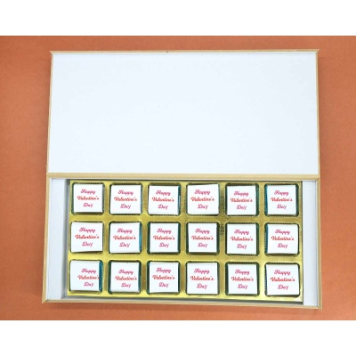 Romantic Chocolate Gift | Wrappper Printed 18pcs  Valentaine Day 16FNWPF