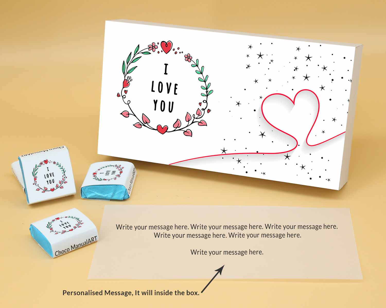 Customised Chocolates For Valentine | Wrappper Printed 12 pcs  Valentaine Day 17FNWPB