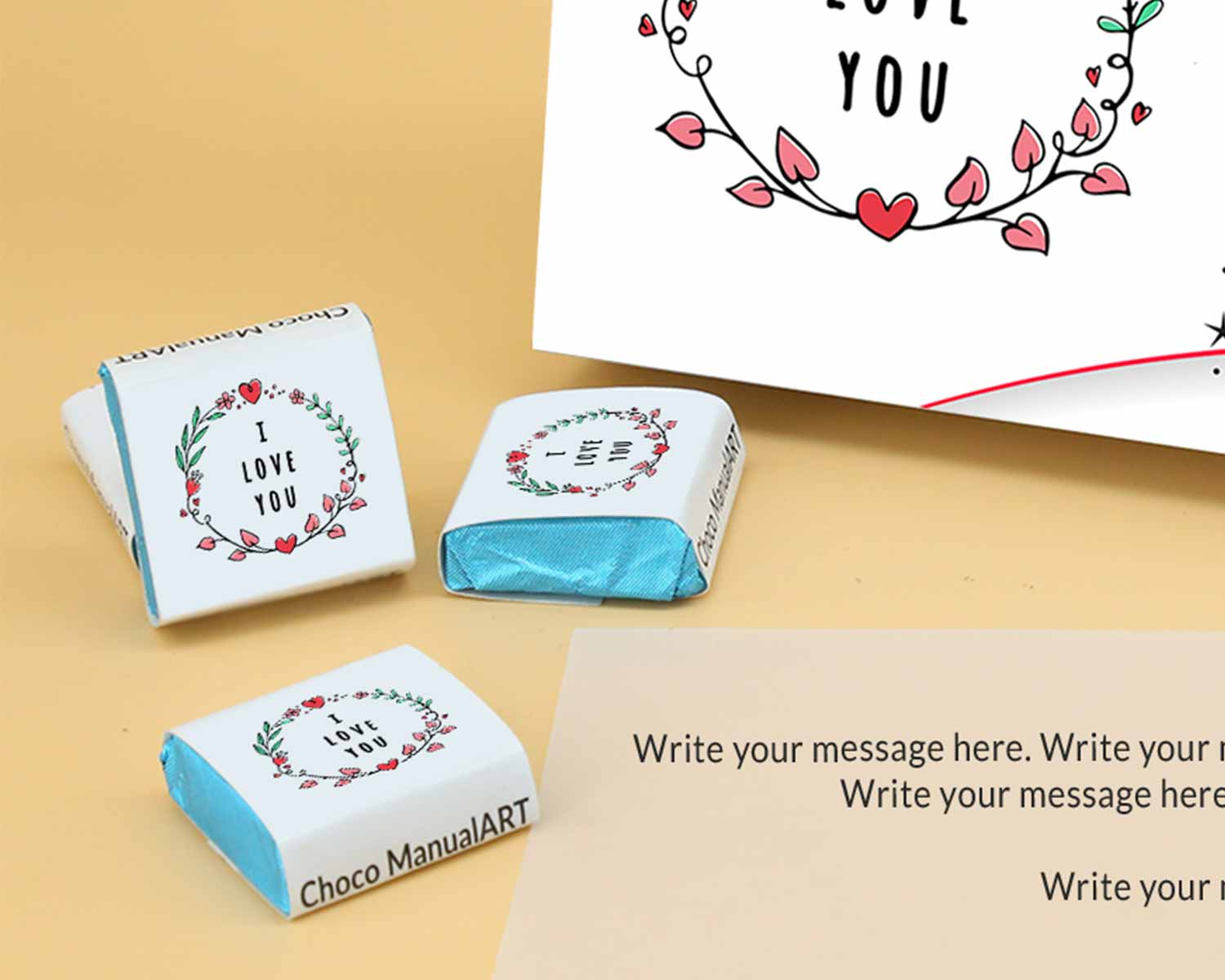 Customised Chocolates For Valentine | Wrappper Printed 12 pcs  Valentaine Day 17FNWPC