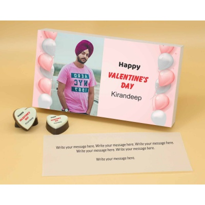 Picture on Heart Chocolates 6 Pcs  Valentaine Day 18HAPA
