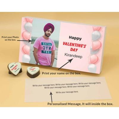 Picture on Heart Chocolates 6 Pcs  Valentaine Day 18HAPB