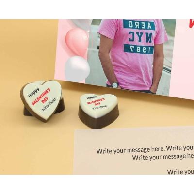 Picture on Heart Chocolates 6 Pcs  Valentaine Day 18HAPC