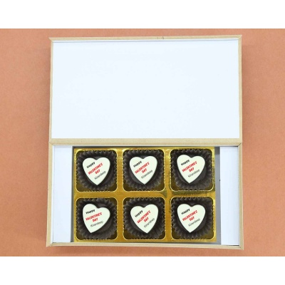 Picture on Heart Chocolates 6 Pcs  Valentaine Day 18HAPD