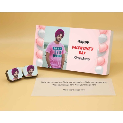 Picture on Chocolates   Valentine Gift 18 Pcs  Valentaine Day 18RAPA