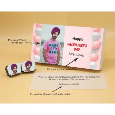 Picture on Chocolates   Valentine Gift 18 Pcs  Valentaine Day 18RAPB
