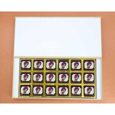 Picture on Chocolates   Valentine Gift 18 Pcs  Valentaine Day 18RAPF