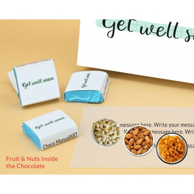 Get Healthy Soon | Wrapper Printed Chocolate Box 12pcs  Valentaine Day 20FNWPC