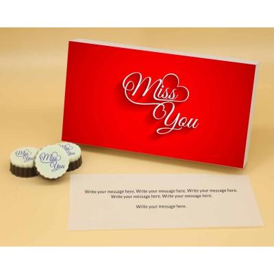Miss You Valentine Gift   Circle Shape 6Pcs  Valentaine Day 21CAPA