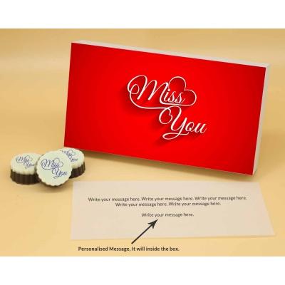 Miss You Valentine Gift   Circle Shape 6Pcs  Valentaine Day 21CAPB