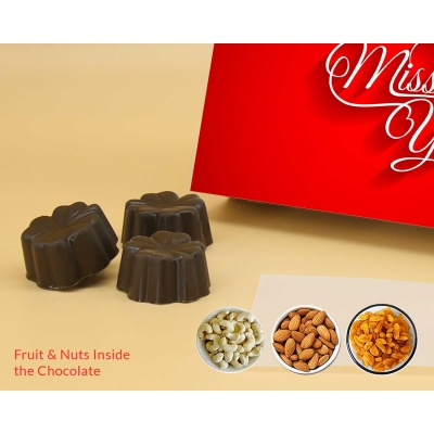 Missing You Gift   Fruit  Nuts Chocolates 6Pcs  Valentaine Day 21FNNPC