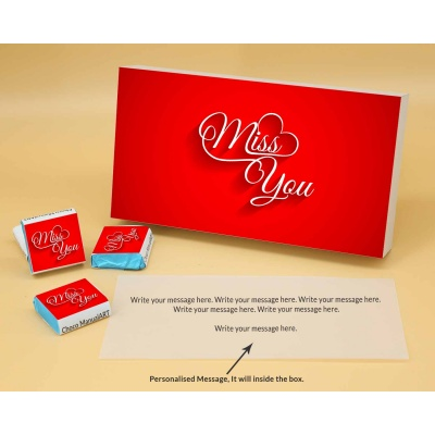 Wrappper Printed Chocolates For Miss You Gift 6pcs  Valentaine Day 21FNWPB