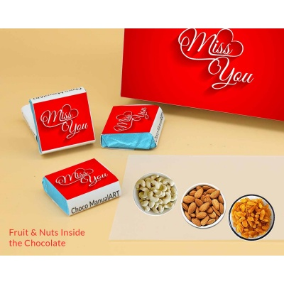 Wrappper Printed Chocolates For Miss You Gift 6pcs  Valentaine Day 21FNWPC
