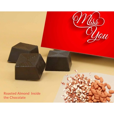 Almonds Chocolates For Miss You Gift 12 Pcs  Valentaine Day 21RANPC