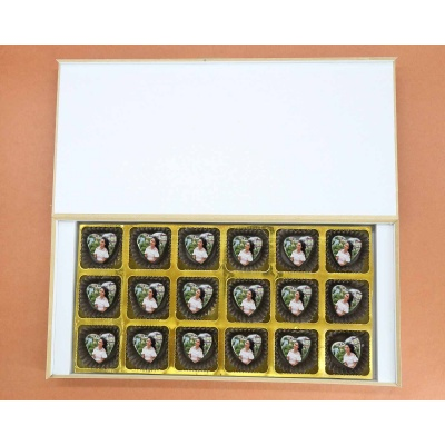 Chocolate Hearts For Valentine Gift 18 Pcs  ValentaineDay02HAPF
