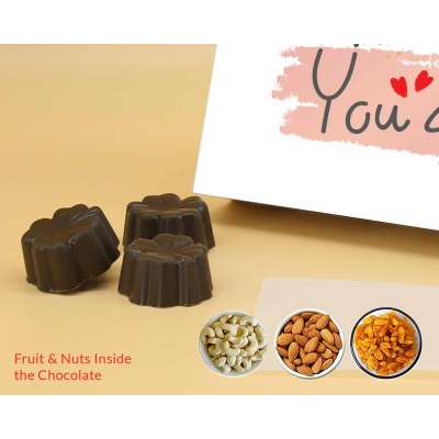 Valnetines Day Gift | Fruit  Nuts Chocolates 6pcs  ValentaineDay11FNNP6C
