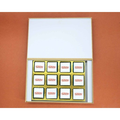 Valentine Gift Wrappper Printed Chocolates 12pcs  ValentaineDay11FNWP12E