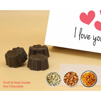 I Love You Gift   Fruit  Nuts Chocolates 18Pcs  ValentaineDay12FNNPC