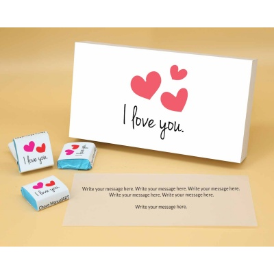Love You Gift For Valentine | Wrappper Printed Chocolates 6pcs  ValentaineDay12FNWPA
