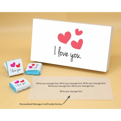 Love You Gift For Valentine | Wrappper Printed Chocolates 6pcs  ValentaineDay12FNWPB