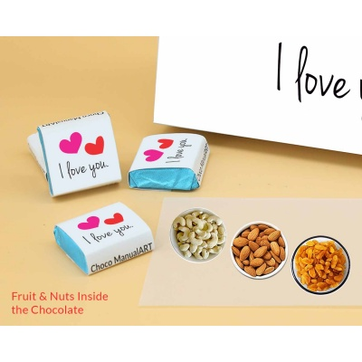 Love You Gift For Valentine | Wrappper Printed Chocolates 6pcs  ValentaineDay12FNWPC