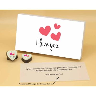 I Love You Heart Chocolates 6 Pcs  ValentaineDay12HAPB