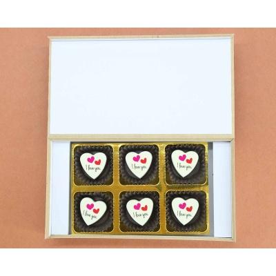 I Love You Heart Chocolates 6 Pcs  ValentaineDay12HAPD