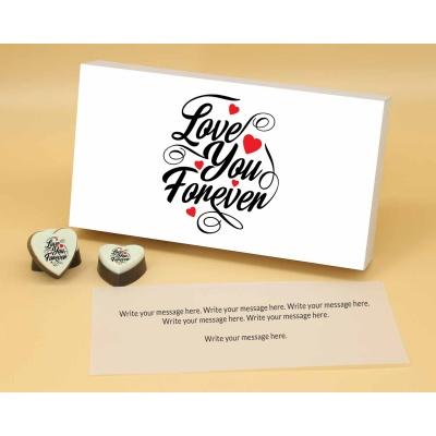 Love You Forever Heart Chocolates 18 Pcs  ValentaineDay13HAPA