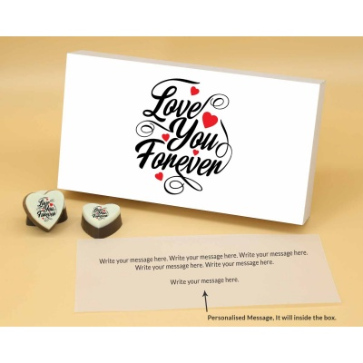 Love You Forever Heart Chocolates 18 Pcs  ValentaineDay13HAPB