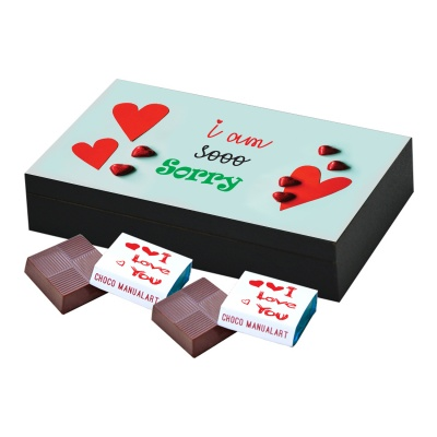 I am Sorry Gift for him her Chocolates Box  6 pcs  Special Personalized I am Sorry Chocolate Boxes