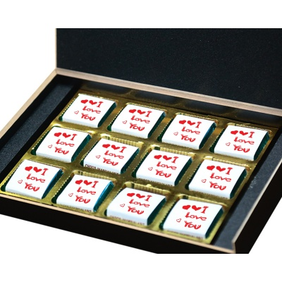 I am Sorry Gift for him her Chocolates Box  12pcs  Valentine Day 06 12 B