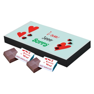 I am Sorry Gift for him her Chocolates Box  18 pcs  Personalized Sorry Gifts for Girlfriend Boyfriend