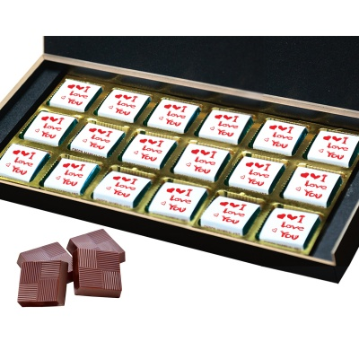 I am Sorry Gift for him her Chocolates Box  18 pcs  Valentine Day 06 18 B
