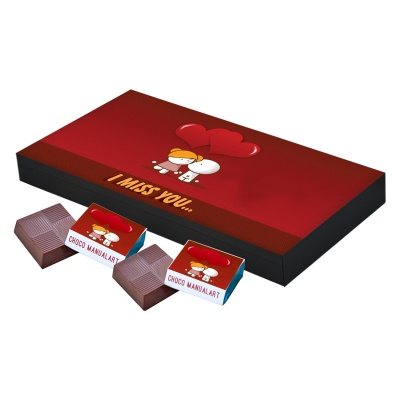 I Miss You Love Chocolate Gift  18 pcs  Special Printed I Miss you Love Chocolate Gift Box