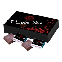 I Miss You Love Chocolate Gift  18 pcs  Personalized Special I Love You Chocolate Gift Box