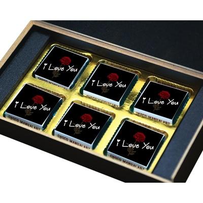 I Love You Chocolates Gift for Love boy Girl  6 pcs  Valentine Day 08 06 B