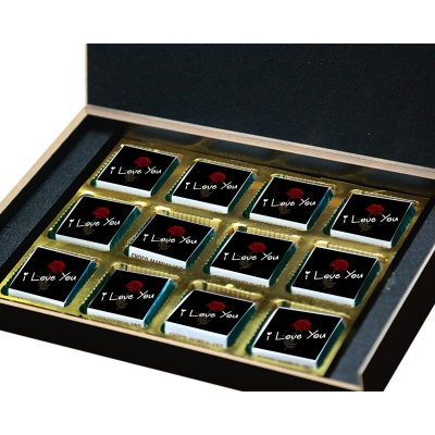I Love You Chocolates Gift for Love boy Girl  12pcs  Valentine Day 08 12 B