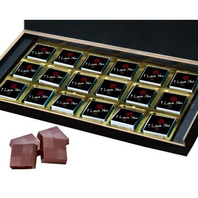 I Love You Chocolates Gift for Love boy Girl  18 pcs  Valentine Day 08 18 B