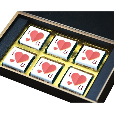 Missing You Love Gift for boy Girl Friend Chocolate Box  6 pcs  Valentine Day 09 06 B