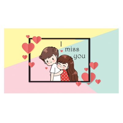 Missing You Love Gift for boy Girl Friend Chocolate Box  6 pcs  Valentine Day 09 06 D