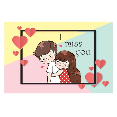 Missing You Love Gift for boy Girl Friend Chocolate Box  12 pcs  Valentine Day 09 12 D