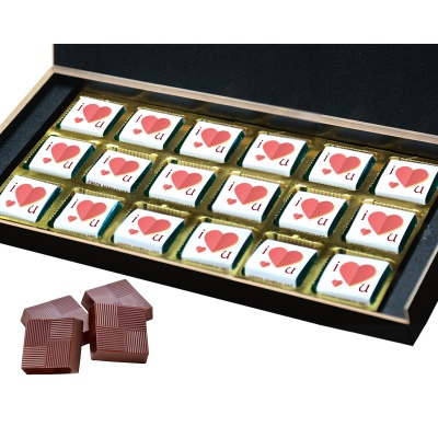 Missing You Love Gift for boy Girl Friend Chocolate Box  18 pcs  Valentine Day 09 18 B