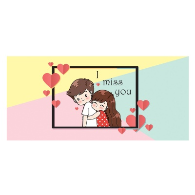 Missing You Love Gift for boy Girl Friend Chocolate Box  18 pcs  Valentine Day 09 18 D