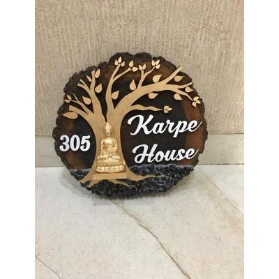 Natural Wood Log Buddha name Plate  WhatsApp Image 2020 12 03 at 55039 PM