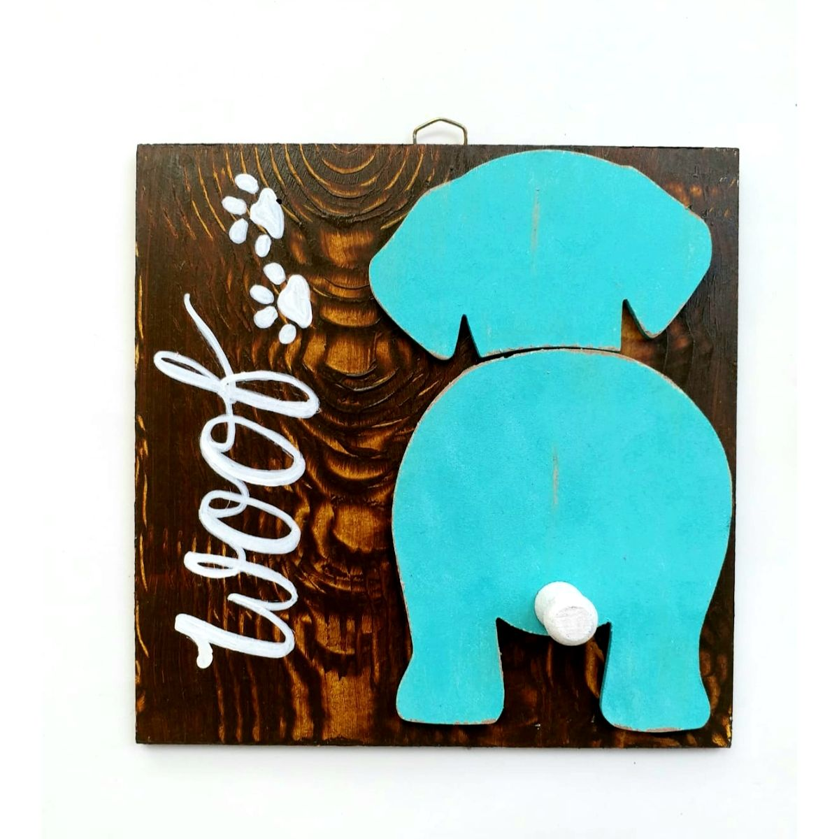 Handcrafted Wooden Dog Wall Decor  Utility  Wooden Dog Wall Decor