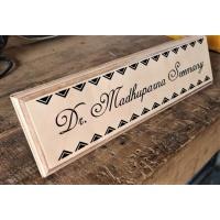 Wooden HomeOffice Table Nameplate Laser Cut  UV Printed Birch Wood  Wooden HomeOffice Table Nameplate  3