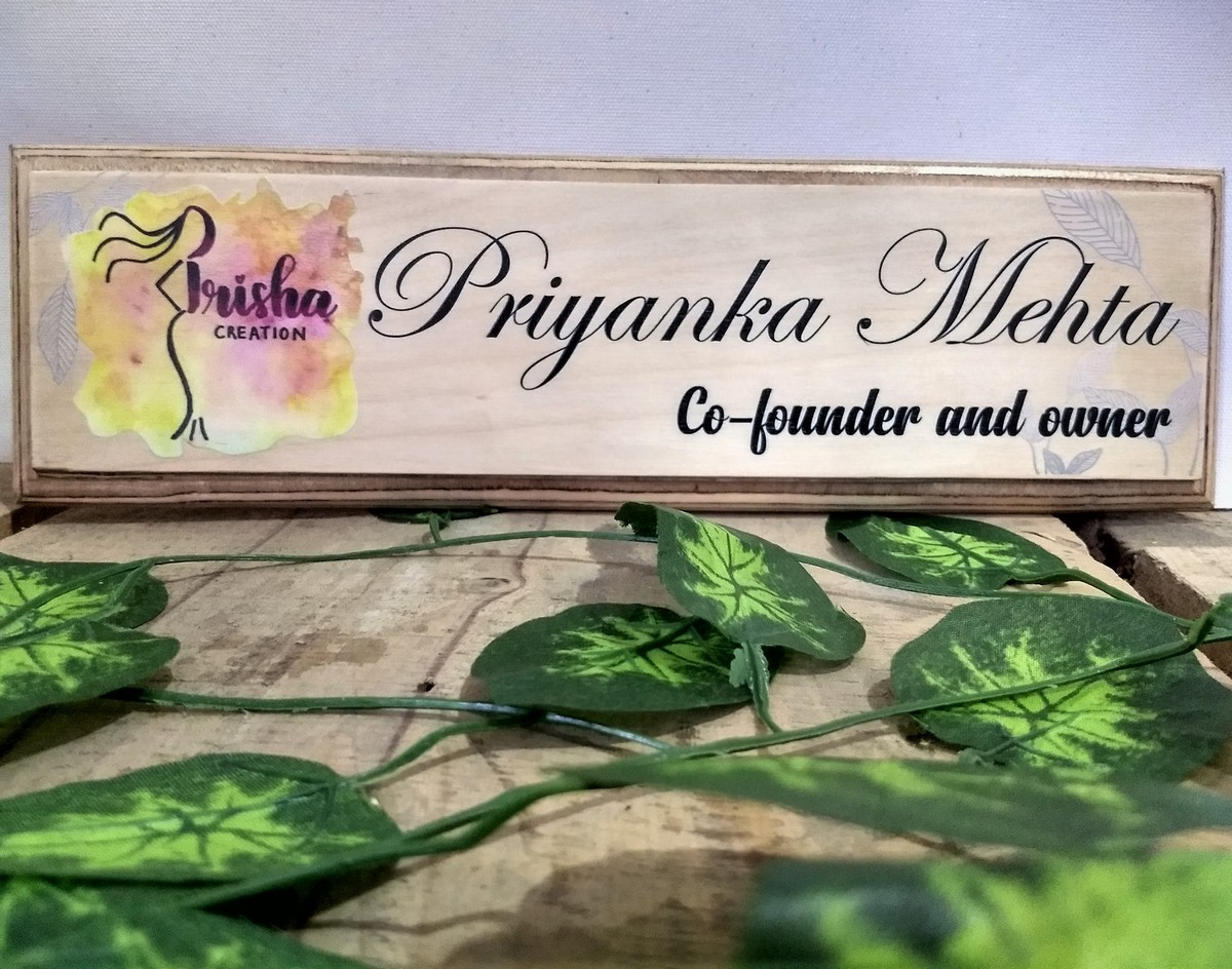 Wooden Name Plate  Birch wood  UV Printed  Wooden Name Plate  Birch wood 3