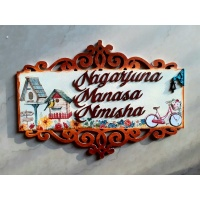 Handcrafted Customized Family Nameplate  nameplate for home