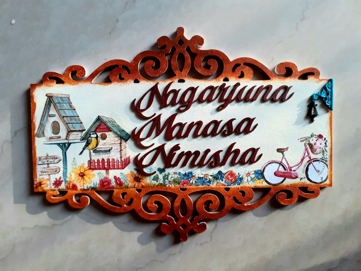 Customize Handicraft Wooden Nameplate  nameplate for home