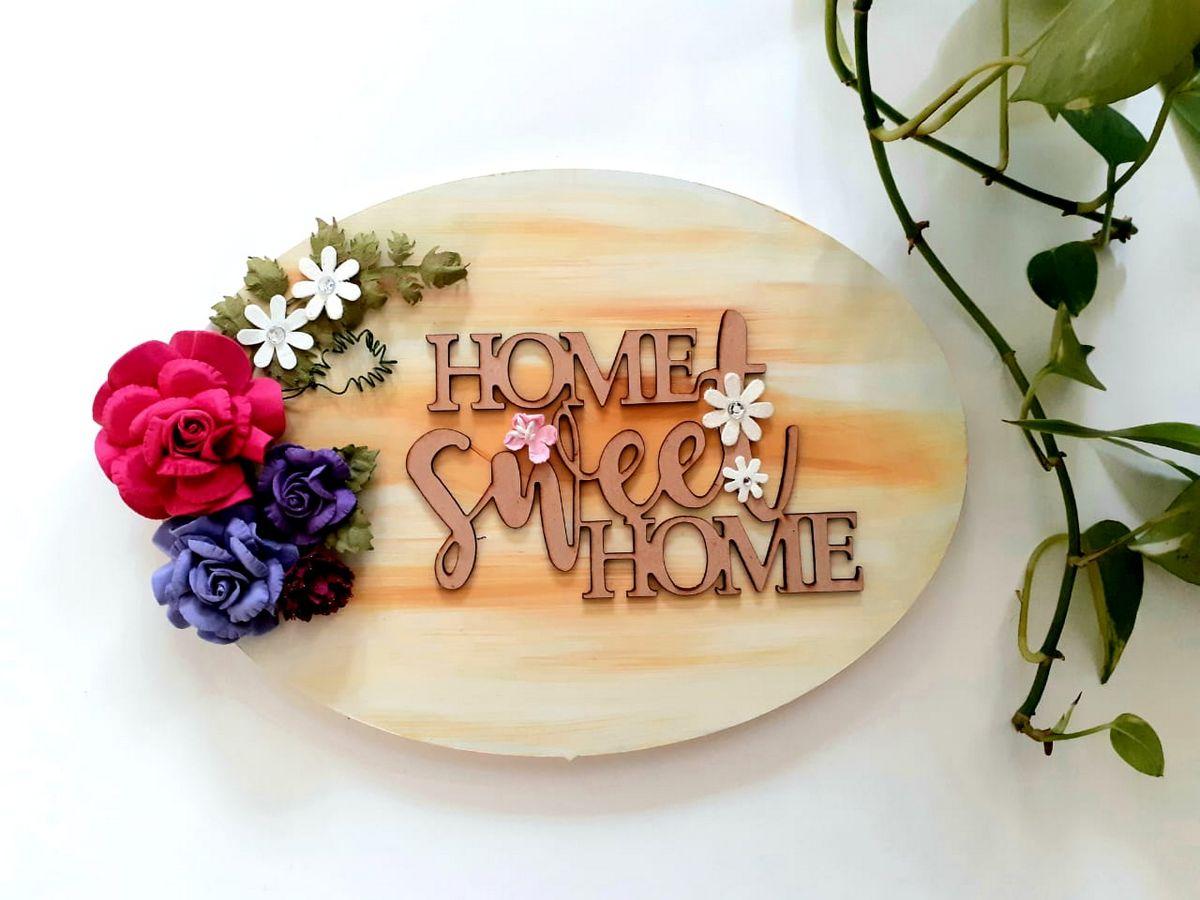 Designer Handmade Wooden nameplate  Wooden Nameplate home