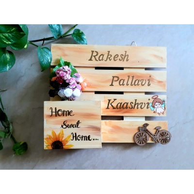 Top Wooden Nameplate Designs for Home Online Hitchki Woodennameplatedesign3